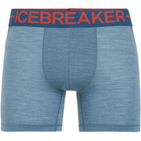 Icebreaker Anatomica Zone Boxer Men Granite Blue Heather/Chili Red